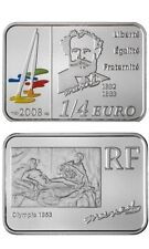 2008 France  Silver Color Proof 1/4  euro Manet/painting