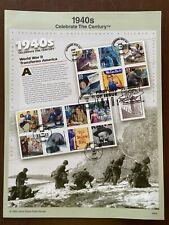 Usps 1999 1940s Celebrate The Century Firdt Day Of Issue Souvenir Sheet
