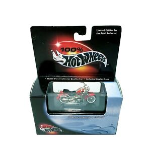 Hot Wheels 2000 Harley Davidson Fatboy Red 100% Diecast Motorcycle New in Case