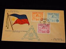 Vintage Cover,MANILA,PHILIPPINES,Inauguration Of Republic FDC,Multi-Franked,1943