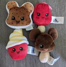 Disney Parks Wishables Food Series 1 Plush Snacks Snack Set of 4