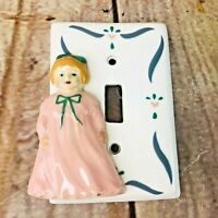 Vintage Hand Painted Light Switch Cover Tri-Faze Productions Girls Room