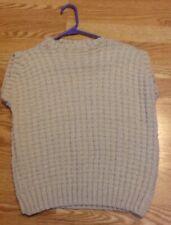 New listing Dog Sweater, Large-X-Large, Ivory, 100% Wool Handmade