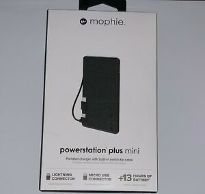 Mophie Powerstation Plus Mini Charger Fabric 4,060 mAh MFi Lightning/Micro USB