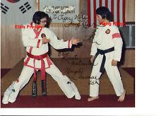 ELVIS KARATE MASTER KANG RHEE HAND SIGNED SIGNATURE ORIGINAL 8x10 PHOTO CANDID