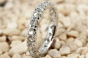 Memory Ring 750 Diamant 18K Weißgold 20 Brillanten 1,63ct VS1-SI2 I Größe 53