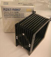 (PRL)  MAMIYA RZ67 67 RB67 RB RZ FRONT BELLOWS HOOD G-3 G3 PARASOLEIL COMPENDIUM