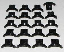 Lego Lot of 20 New Black Vehicle Mudguards 4 x 2 1/2 x 1 with Arch Round