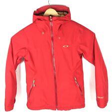 Oakley 3 layer Goretex Mens Ski Snowboard Jacket Medium Small Red And Gold Recco