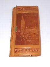 portafoglio pelle vintage big ben beige lunghezza 19 cm