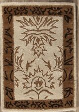 Hand-tufted All-Over Pattern Floral Foyer Size 2x3 Oushak Oriental Rug Wool