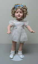 "ADORABLE 19"" SHIRLEY TEMPLE COMPOSITION DOLL, FULLY JOINTED, c. 1930's"