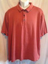 TASSO ELLA Golf Polo Shirt Double Mercerized 100% Pina Cotton Mans Size L EUC