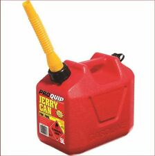 JERRY CAN 5 L LT TOUGH RED PLASTIC 5 LITRE PETROL DIESEL FUEL INC POURER APPROVE