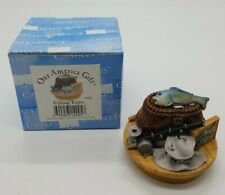 """Our America Gift """"Fishing Topper"""" Yankee Candle Jar Topper Medium / Large New"""