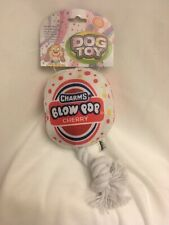 Our Pets Dog Toy Blow Pop Squeeky Tug And Toss