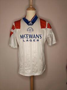 Rare Original 1992-1993 Glasgow Rangers Away Shirt Medium Men's ADIDAS