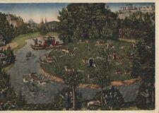 Alte Kunstkarte - Hirschjagd des Kurfürsten Johann Friedrich von Sachsen