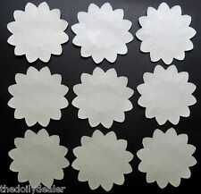 RARE WHITE PAPER LACE 12 POINT MAPLE LEAF DOILIES 4 INCHES X 10 LIMITED QUANTITY
