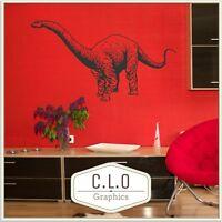 Brachiosaurus Wall Sticker Dinosaur Vinyl Transfer Boys Big Dino Art Decor Decal