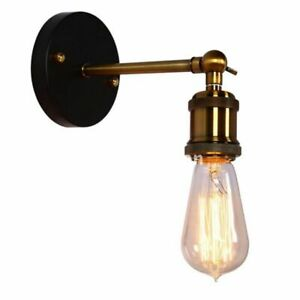 Retro Wall Lamp E27 Bulb Home Decor Lighting Industrial Stainless Steel Indoor