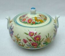 "WEDGWOOD china PRAIRIE FLOWERS W1758 pattern Sugar Bowl & Lid - 2-3/4"""