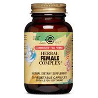 Solgar SFP Herbal Female Complex - 50 Vegetable Capsules FRESH, FREE SHIPPING