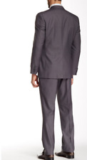 NEW Nicole Miller Light Gray Two Button Notch Lapel Suit LIGHT GRAY 46R W39