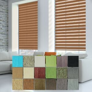 Light Filtering Dual Layer Window Blinds Day & Night Privacy Shade Custom Made