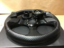 Carbon Black F Steering Wheel +Quick Release +Hub Black Polaris RZR 800/900/1000