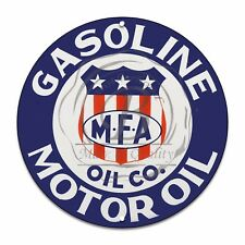 "MFA Motor Oil Company Gas & Oil Design (Reproduction) 12"" Circle Aluminum Sign"