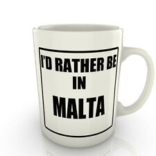 I' prof Rather être dans un MALTE - Tasse comme cadeau nouveauté voyage