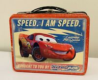 VTG Tin Metal Lunch Snack Toy Box Embossed Disney CARS McQueen SPEED. I AM SPEED