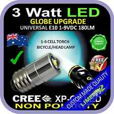 LED 1-9V UPGRADE CREE E10 3W BULB GLOBE for FLASHLIGHT TORCH HEAD LAMP BICYCLE