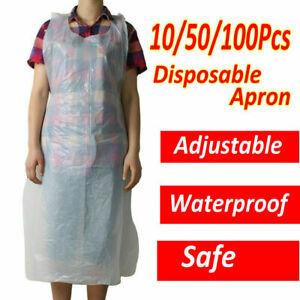 Disposable Plastic Aprons Polythene Aprons Eco Flat Pack White Waterproof UK