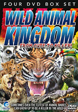 Wild Animal Kingdom - 4 DVD SET - BRAND NEW SEALED - LIONS TIGERS MONKEYS SHARKS