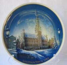 Vintage Rosenthal Porcelain Christmas Weihnachten Plate 1980 Brussels Bruessel