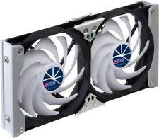 Titan Double ventilateur pour Réfrigérateur de refroidissement avec régulateur de vitesse 120 mm Twin Ventilation SET