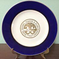HOMER LAUGHLIN GPPA Workers AFL-CIO Cobalt Blue & Gold Plate-Beautiful!