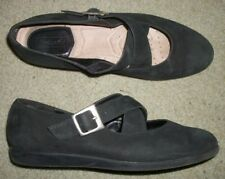 ROCKPORT MARY JANES SIZE 7M BLACK SUEDE
