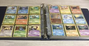 Pokemon TCG binder collection lot-432 cards-Common, Uncommon, and Holo! Pikachu!