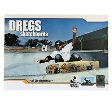 Skateboard Poster 2002 Dregs Skateboards Printed 2 Sides Decks Gear Rare Nos