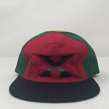 NEW Vintage Malcom X Rasta Reggae Pinwheel Snapback Hat USA