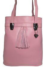 schöne Ledertasche Rucksack LISSABON - rosa Glattleder - vario Shopper Tasche