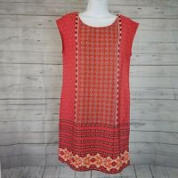 Old Navy Womens Shift Dress Sz Small Pinkish Red Floral Sleeveless