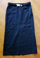J Crew Womens Skirt Long Maxi Charcoal Gray Lambswool Blend Size 12