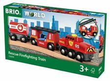33844 BRIO Rescue Fire Train Wooden Railway Trains Age 3 Years