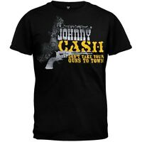 Johnny Cash - Guns Soft Adult Mens T-Shirt