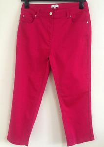 NEW Ex COACH Authentic Hot Pink Straight Leg Denim Jeans Size 12/14/16