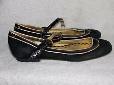 Juicy Couture Black MARYJANES Soft Flats 6M For Women Used
